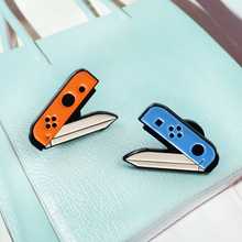 Pop Creative Scissors Brooch Cutting Knife Positive and Negative Energy Game Cartoon Knife Enamel Pin Coat Cap Badge Friend Gift