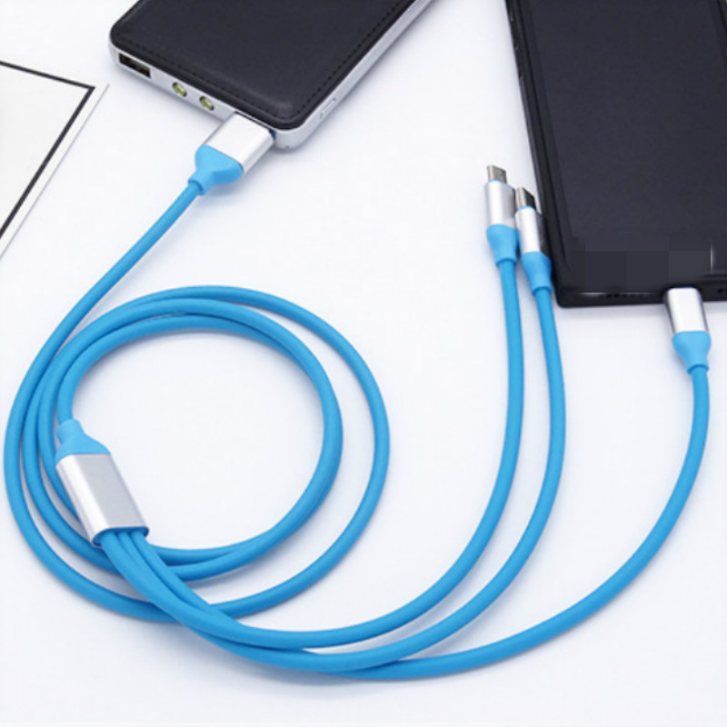 3IN1 Multi USB Type C Charging Cable for iPhone  Sony Cell Phone Smartphone Micro USB Charger Kabel Cabo Multiple USB C Line1.2m|Mobile Phone Cables|   - AliExpress