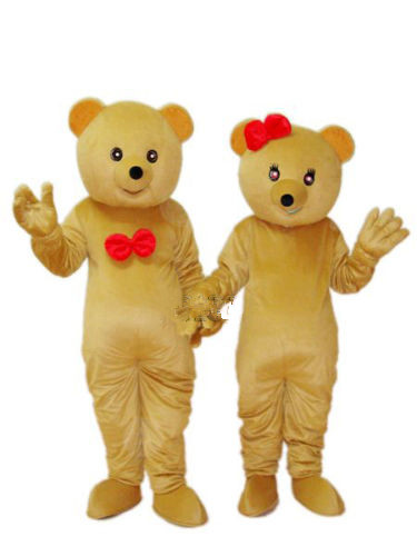 New Version the bear Couples Mascot Costume Adult Birthday Party Fancy Dress Halloween Cosplay Outfits Clothing Xmas