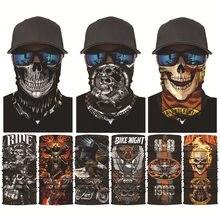 Skull Joker Cycling Magic Scarf Dazzle 3D Seamless Bandanas Buffs Motorcycle Neck Face Mask Windproof Fishing Hiking Bandana