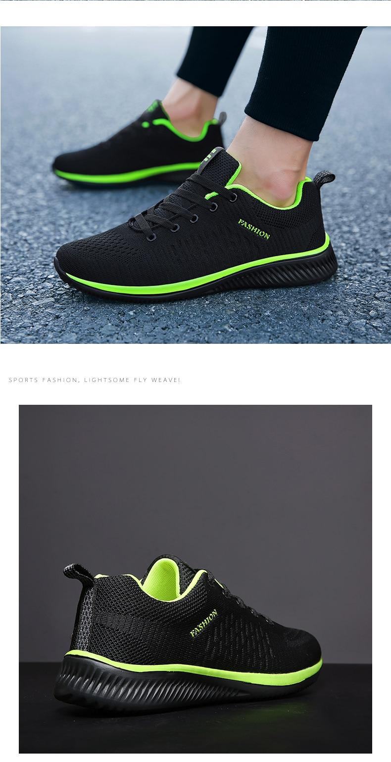 Hc08b6deec0104dee86d58dccec2e86929 New Mesh Men Casual Shoes Lac-up Men Shoes Lightweight Comfortable Breathable Walking Sneakers Tenis masculino Zapatillas Hombre
