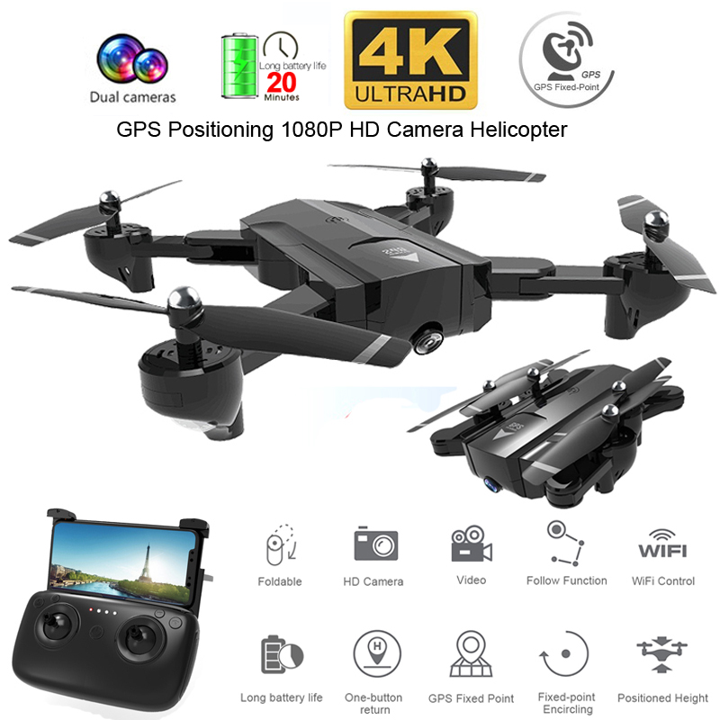 SG900-S SG900 Profissional <font><b>Drone</b></font> with Camera 1080P 4K HD GPS WiFi FPV 20Min Flight Time Wide Angle RC Quadcopter Helicopter Toys image