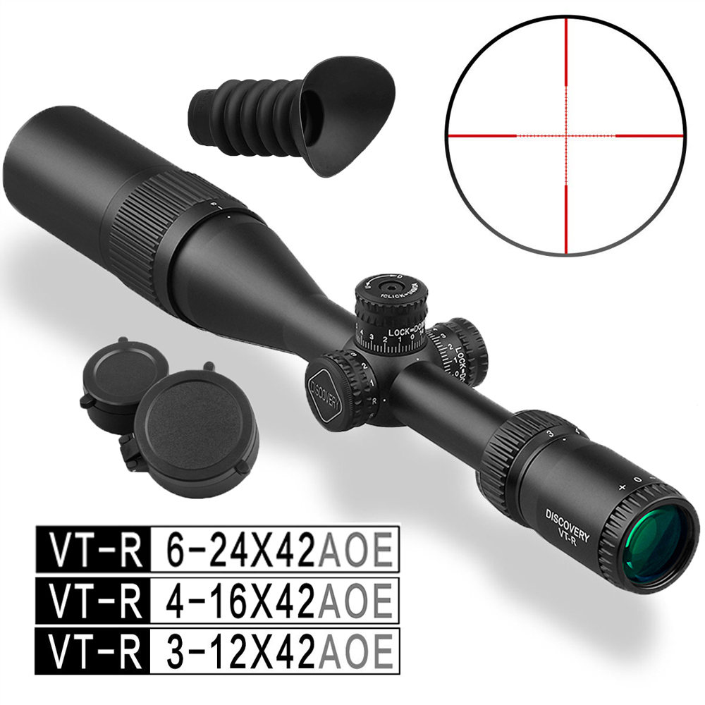 Shock Proof Discovery VT R 3 12 x42 AOE Tactical Hunting Scope Used for Rifle PCP Airsoft|Riflescopes| |  - title=