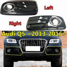Grilles Audi-Q5 Fog-Light Lower-Bumper Facelift Front Car ABS Fog-Lamp-Cover Replacement