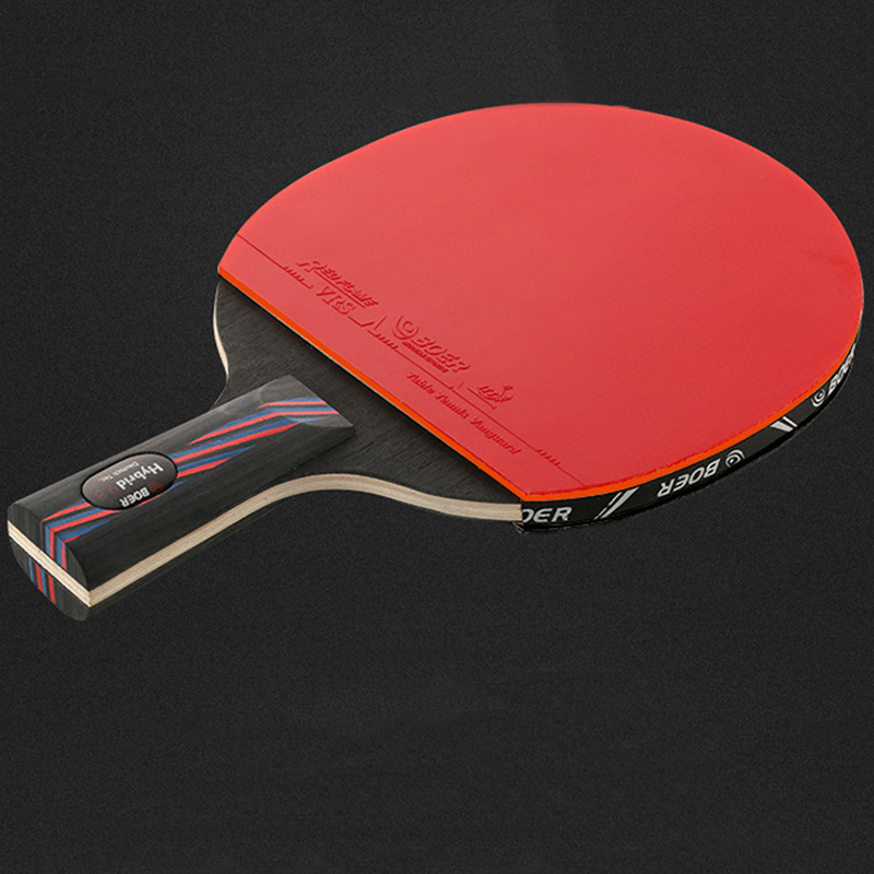 BOER Table Tennis Racket Bat Professional Training+Balls +Cover+Protective Film Shakehand / Penhold Pingpong Supplies