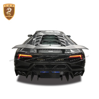 For Lamborghini Huracan LP610 LP580 100%Carbon Fiber Rear Car Styling Bumper High Quality Rear Body Kit Car Acessories Hot 2018