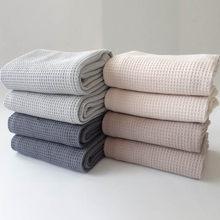 1 pçs 45*65cm multi purpose toalha de mão banheiro suprimentos waffle padrão cuidados com o rosto padrão quadrado toalhas de chá cor pura algodão
