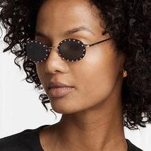 Очки солнцезащитные женские в металлической оправе роскошные