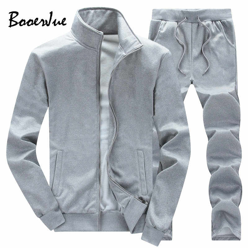 Solid Color Army Tracksuit Men 2019 Hoodies Set Fleece Men's Active Sweat Suit Sweatshirts Men Hoodie Men Support DIY Printed