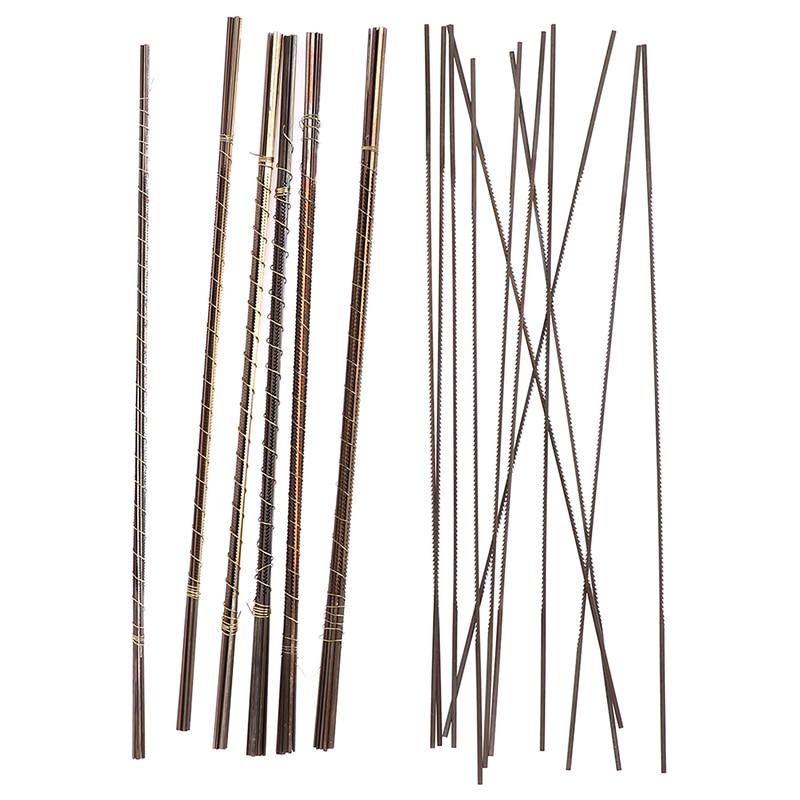 12pcs Mini Diamond Wire Saw Blade Cutter Jewelry Metal Cutting Jig Blades Woodworking Hand Craft Tools Scroll Spiral Teeth 130mm