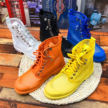 Fashion retro high-top couple flat shoes women vulcanized shoes