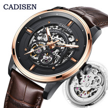 CADISEN2019 Top Brand Men's Mechanical Watch Luxury Hollow Men's Automatic Watch Military Business Leisure 5ATM Waterproof loreo authentic automatic mechanical watch waterproof belt diamond fashion luxury elegant hollow lady watch