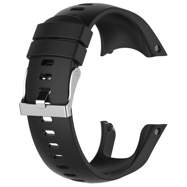 حزام ساعة سيليكون حزام (استيك) ساعة استبدال ل Suunto المتقشف المدرب المعصم HR