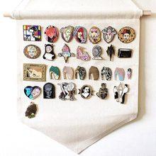 Broche de lapela com botões para emblema, bandeira de algodão, coleções, acessórios de decoração, broche para exibição de parede, pennant em branco