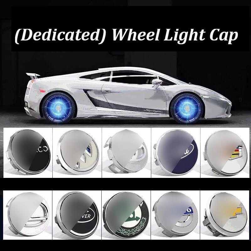 Hub Light 4X Car Wheel Caps Light Floating Illumination LED Light Center Cover Lighting Cap Auto Styling For Auto Car Accessorie
