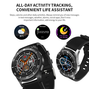 """Image 4 - Lerbyee GT106 Đồng Hồ Thông Minh 1.28 """"Full Màn Hình Cảm Ứng Nhịp Tim Nhắc Cuộc Gọi Tập Thể Hình Đồng Hồ Nam Nữ Nhạc Đồng Hồ Thông Minh Smartwatch IOS"""