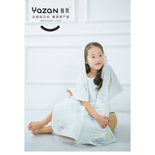 Yazan хлопок gauze6 слоев пляжное полотенце с капюшоном хлопковая