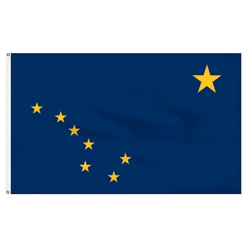 3 'x 5'/2 'x 3' флаг Аляски баннер дом высокое качество Печать 150D полиэстер американский флаг УФ-стойкий цвет