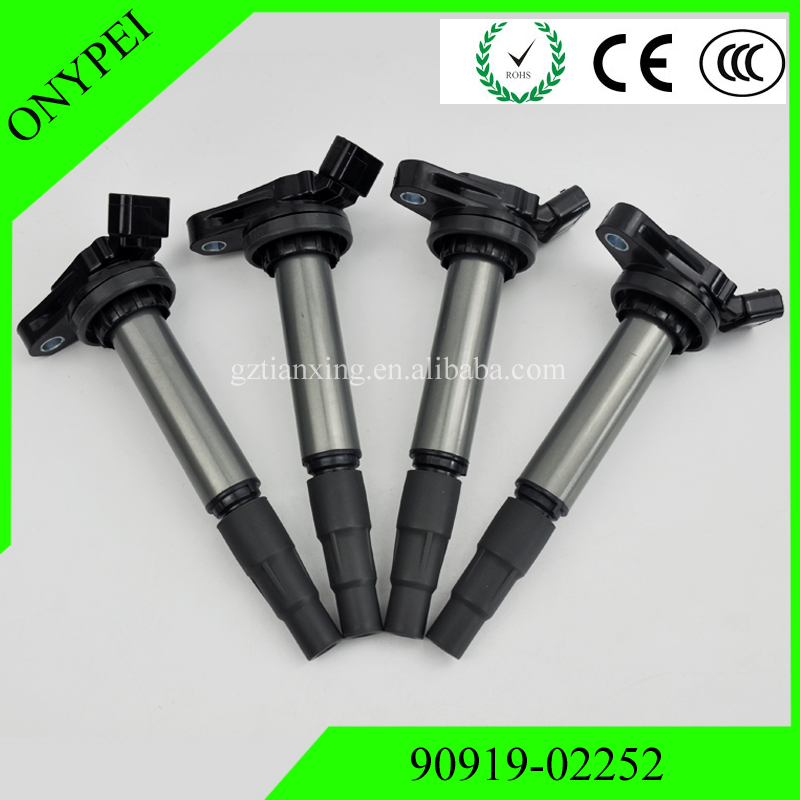 4PCS New <font><b>90919</b></font> <font><b>02252</b></font> Ignition Coil For Toyota Corolla Matrix Scion xD Lexus 1.8L <font><b>90919</b></font>-<font><b>02252</b></font> 9091902252 image