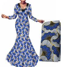 2020 hermosa tela de Ankara Africana estampada batik tela de cera de algodón suave material de costura de alta calidad para vestido de fiesta 6 yardas
