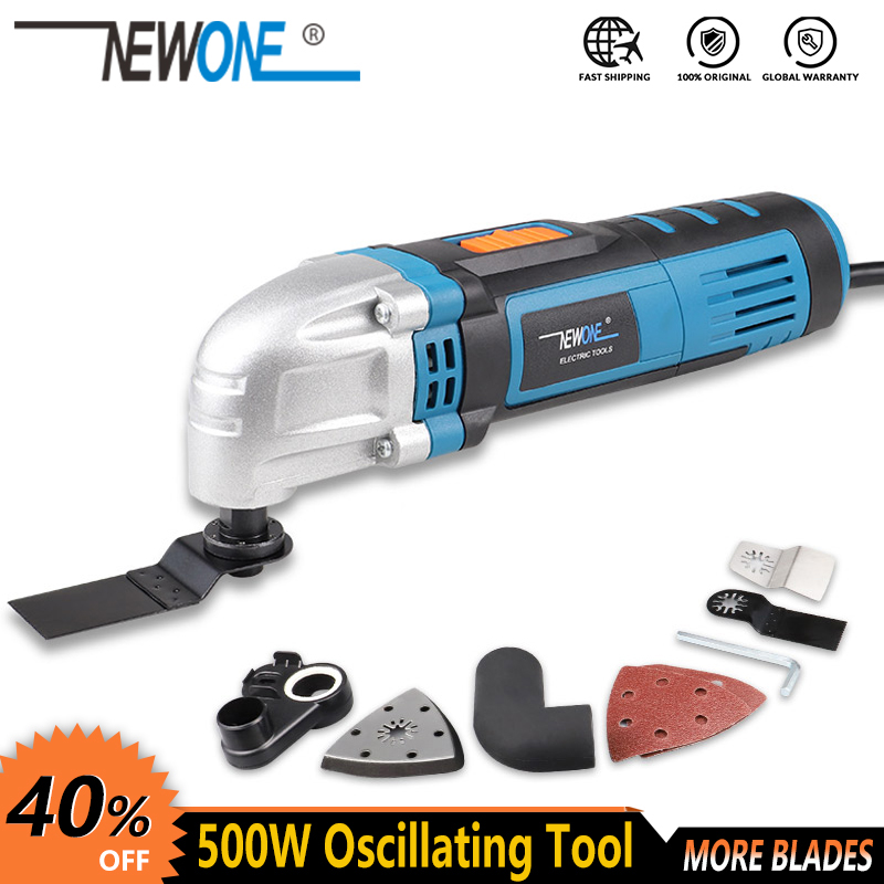NEWONE Multi-function Power Tool Electric Trimmer Renovator saw 500W cutter Oscillating Tool with handle multi purpose blades