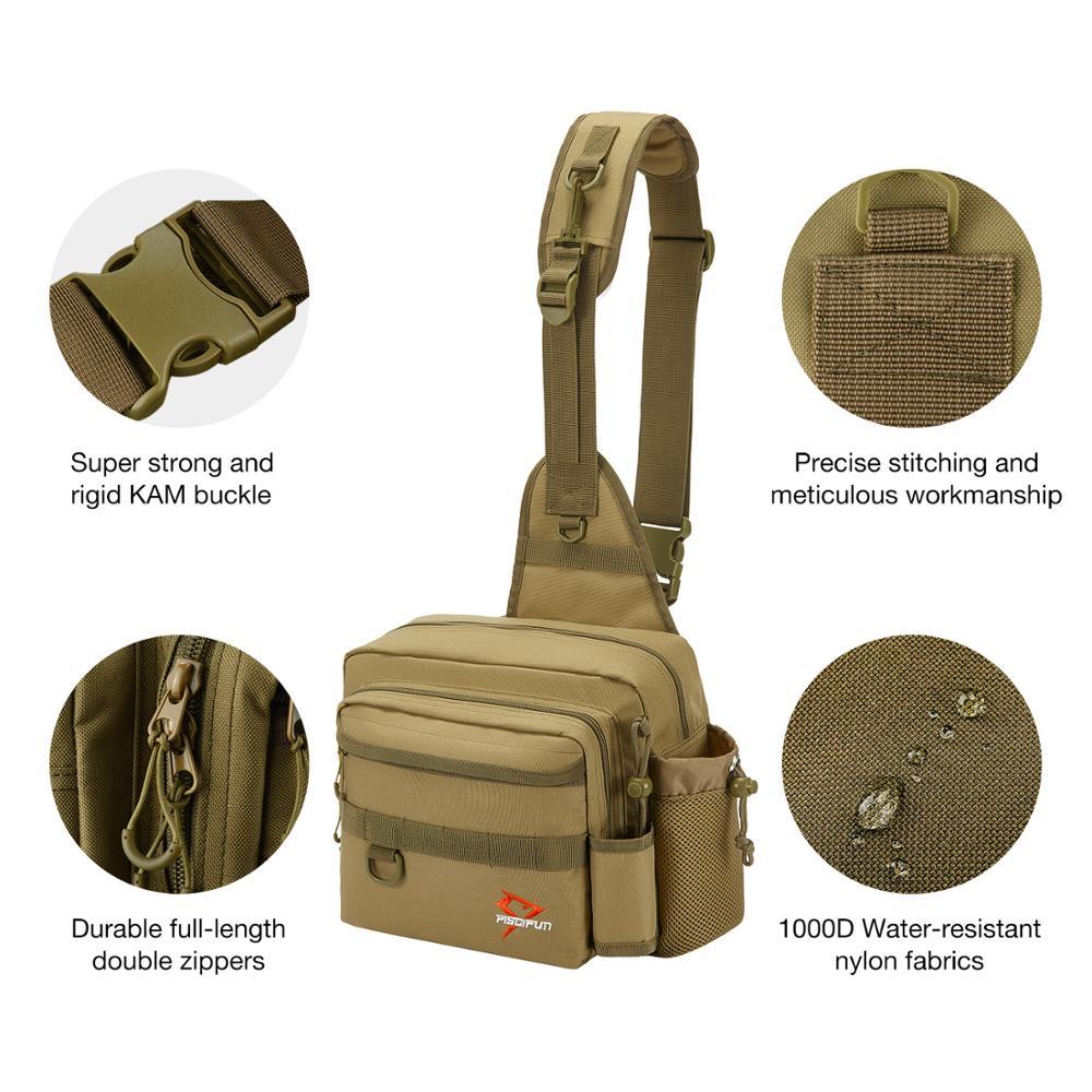 Piscifun Sling-Bag Cross-Body Outdoor Multi-Purpose Nylon Water-Resistant