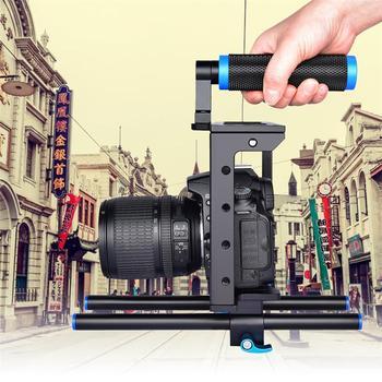 C1 1/4 - 20 SLR Photography Non-slip Camera Rabbit Cage Universal Multiple Screw Holes Alu Portable Single Handle Stabilizer Kit