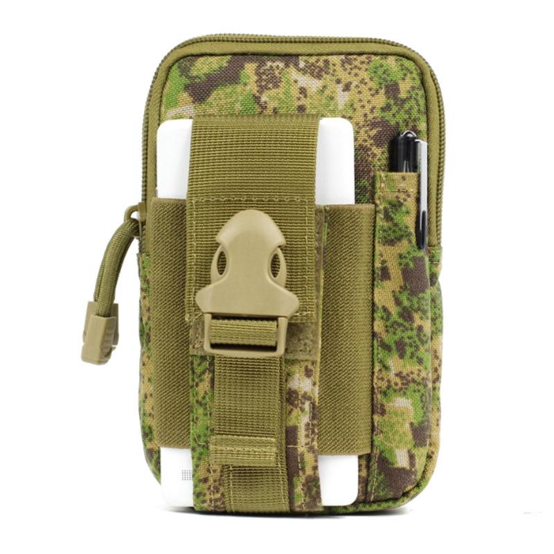 Cartera de camuflaje táctico impermeable deportes multifuncional bolsa táctica cintura paquete al aire libre correr teléfono móvil deportes cintura P - 2