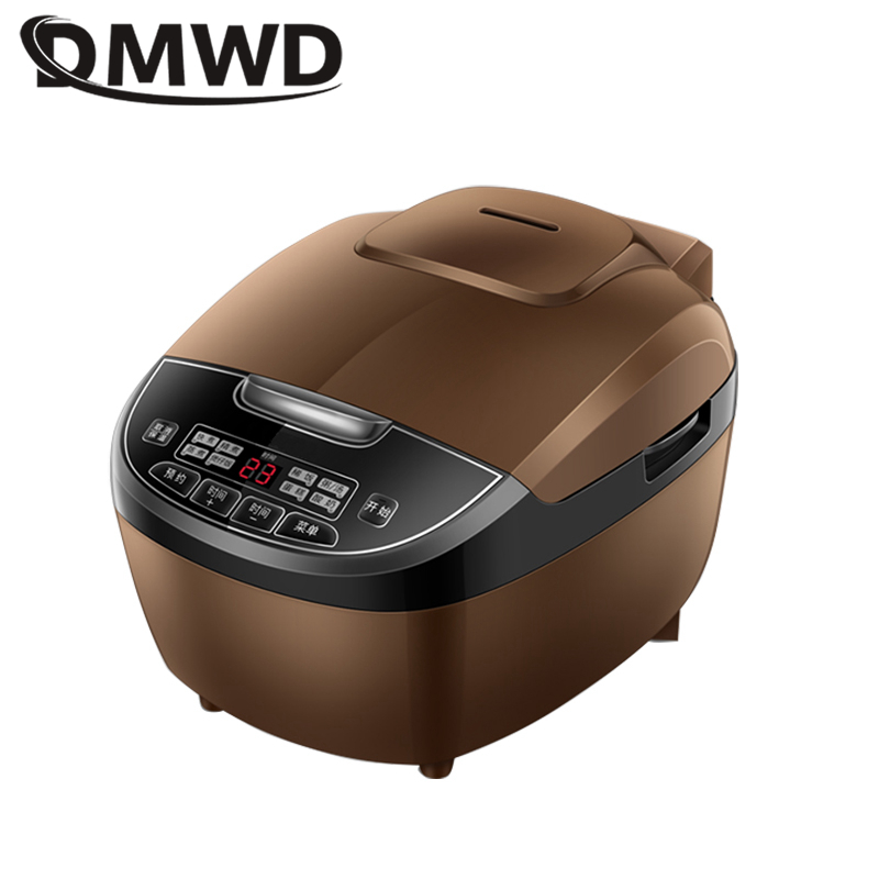 DMWD 3L Automatic Electric Rice Cooker Micro Pressure Multicooker Intelligent Reservation Food Steamer Warmer Stereo Heating EU