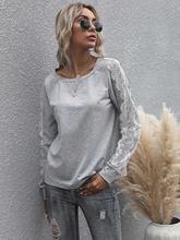 Женская футболка с круглым вырезом однотонная свободная уличная