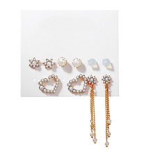 Yobest pendientes de moda Brincos Navidad conjunto aros de perlas cristal para mujeres Boho pequeño pendiente de gota 2020 geométrico Vintage