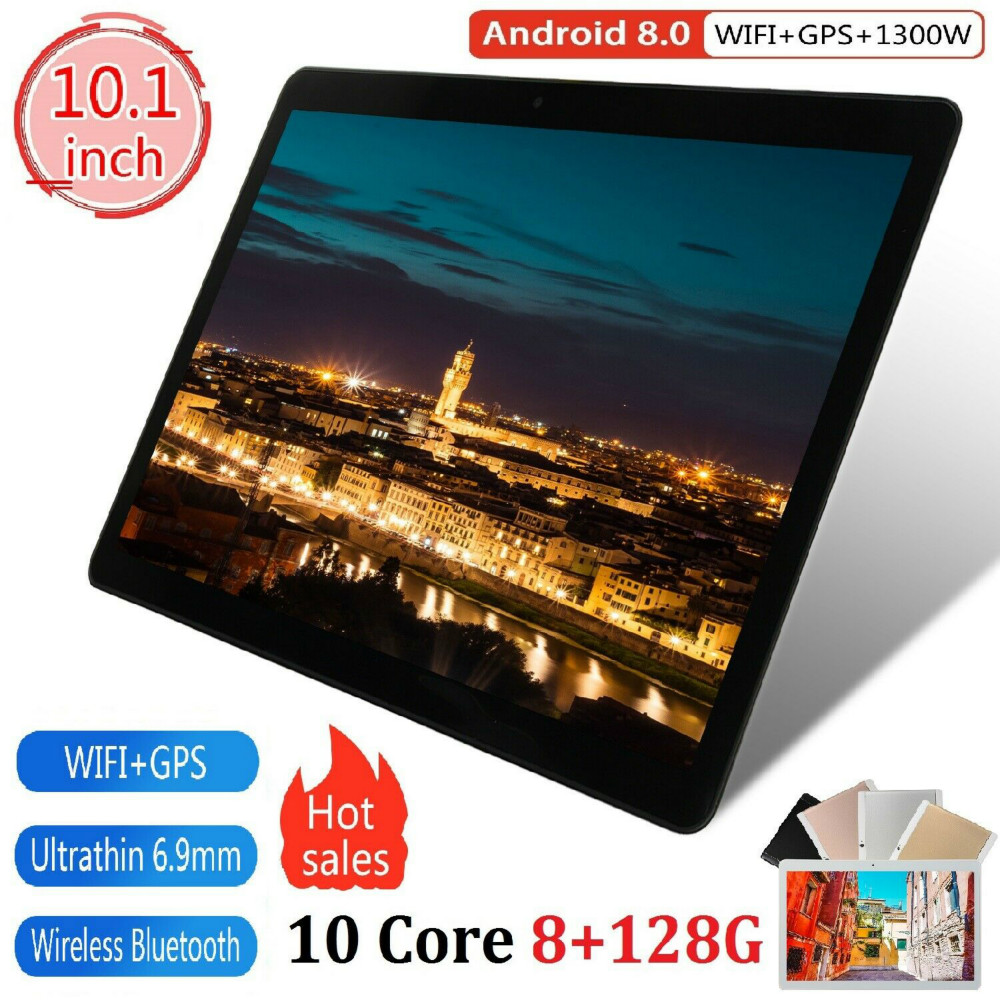 1280x800  IPS WiFi Bluetooth Tablet  Android 8.0 OS 10 Inch Tablet Octa Core 3G 4G FDD LTE 8GB RAM 128GB ROM For Kids Gifts