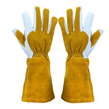 Gardening Rose Pruning Gloves Cowhide Leather Safety Welding Gloves Women and Men Welding Glove