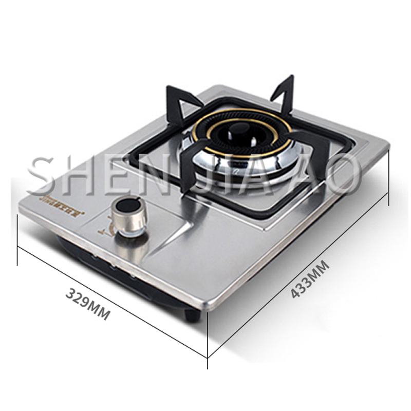 Stainless Steel Gas Stove Single Burner Outdoor Home Kitchen Cooktop Cooker Hob