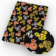 50*145 см мультяшная полиэфирная хлопковая ткань с принтом, ткань для шитья, для лоскутного шитья, рукоделия, самодельные проекты, c8384