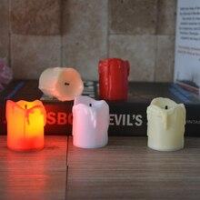 Светильник для свечей, свадебная лампа со светодиодными свечами, Рождественский Декор, светодиодный светильник для чая, красочный романтический электронный домашний аккумулятор, беспламенный