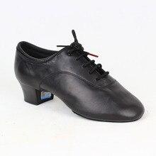 Zapatos de baile BD 417 para hombre, calzado de baile latino de salón, suela de cuero suave con abertura, zapatos de baile Samba Chacha Rumba Jive Paso doble