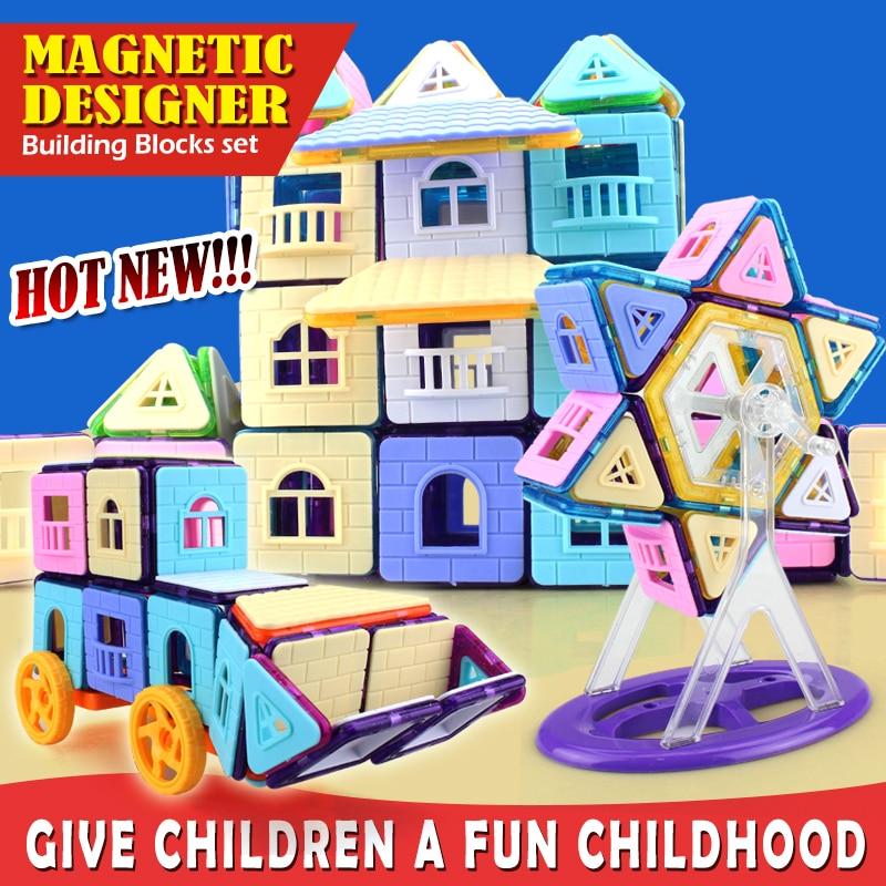 mini Magnetic Building Blocks Triangle Square Bricks Designer Construction Diamond Ferris wheel Set Educational Toys for Childre