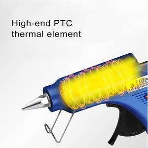 Image 4 - Hot Melt Glue Gun with Glue Stick 7mm 11mm Mini Gun Thermo Electric Heat Temperature Tool pistola de silicona calien EXCITEDWORK