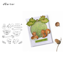 JC Clear Rubber Stamps for Scrapbooking Squirrel Slogan Craft Stamp Silicone Seals Stencil Album Card Make Sheet New 2019
