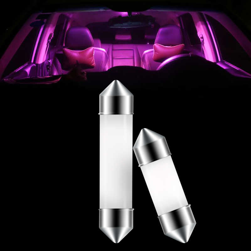 31mm 36mm 39mm 41mm Super lumineux COB décoration LED voiture lumières 12V Auto intérieur lecture dôme lampe pur blanc glace bleu rouge jaune