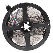 цена на 5M 5050 SMD 300 RGB LED Strips Light Lamp 12V DC Decor+Mini 24 Keys Controller