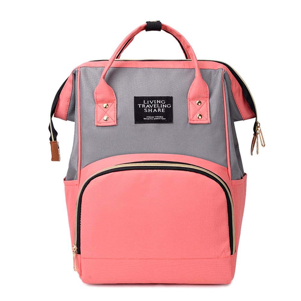 Fashion Hit Color Mommy Backpacks Large Capacity Travel Bag Nylon Maternity Nappy Top-handle Bags Baby Care Nursing Diaper Packs