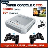 Console per videogiochi Super Console X Pro 4K HD Retro Wifi TV Box lettori di giochi per giochi PSP/PS1/DC/N64 50000 con emulatore 50