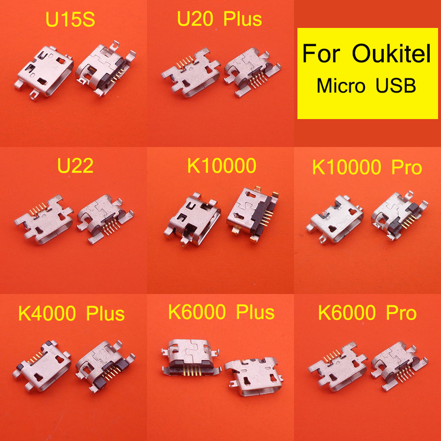 10pcs For Oukitel K4000 Plus K6000 Pro K10000 Pro U22 U20 Plus U15S Micro USB Jack Socket Charging Dock Port Connector