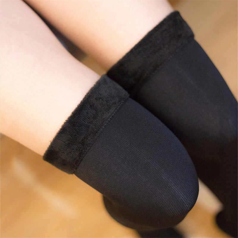 Kadın uzun çorap kış sıcak kalınlaşmak termal şeritli çorap kadife bayan çizmeler gül kalın diz çorapları çorap skarpetki calcetines