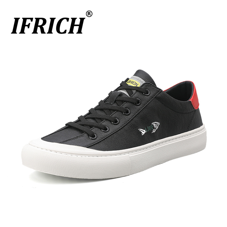 Cheap New Trend Young Casual Shoes For Boy Good Quality Casual Brand Leather Men Shoe Flat Young Casual Sneakers Designer Man Sneakers