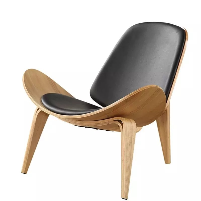 Nordic Chair Ins Chair Creative Simple Designer Single Sofa Chair Smile Aircraft Shell Chair