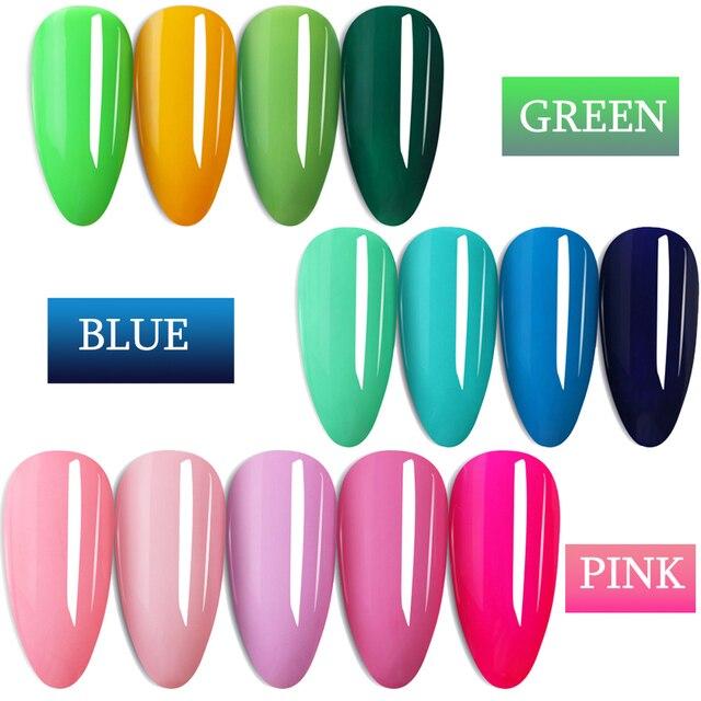 7ml Colorful Gel Varnish UV Vernis Semi Permanent Soak Off Nail Painting Polish Lacquer DIY Nail Art Design Manicure Tool BE1571 3