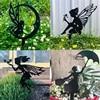 Fairy Garden Metal Iron Crafts Pendant Garden Decor Outdoor Ornaments Interesting Hot Indoor Garden Statues Sculpture
